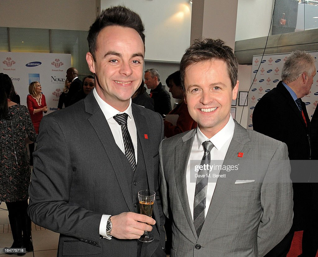 Anthony McPartlin (L) and <a gi-track='captionPersonalityLinkClicked' href=/galleries/search?phrase=Declan+Donnelly&family=editorial&specificpeople=206200 ng-click='$event.stopPropagation()'>Declan Donnelly</a> attend The Prince's Trust & Samsung Celebrate Success Awards at Odeon Leicester Square on March 26, 2013 in London, England.