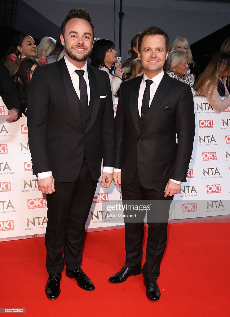 Anthony McPartlin and Declan Donnelly attends the National Television Awards at The O2 Arena on January 25, 2017 in London, England.