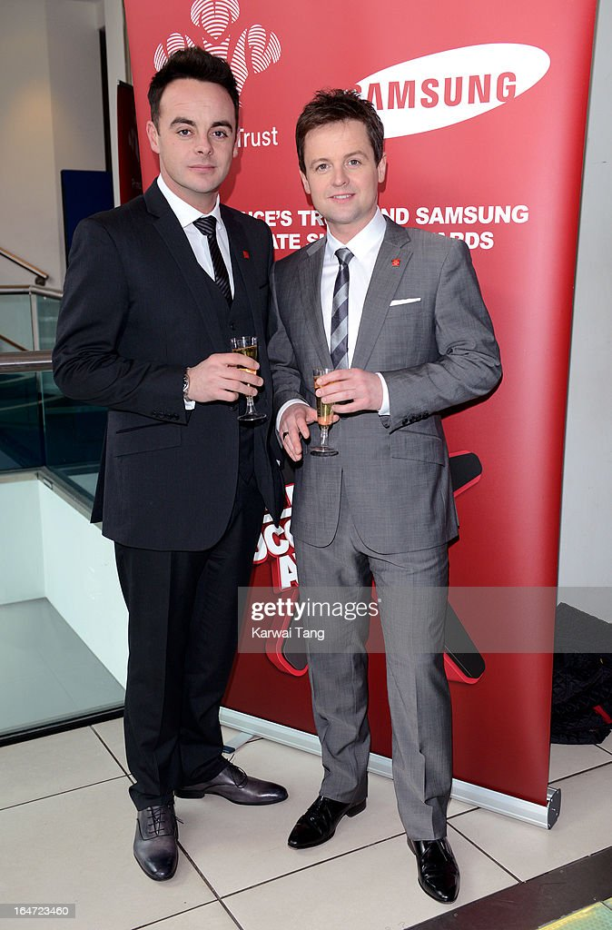 Anthony McPartlin and <a gi-track='captionPersonalityLinkClicked' href=/galleries/search?phrase=Declan+Donnelly&family=editorial&specificpeople=206200 ng-click='$event.stopPropagation()'>Declan Donnelly</a> attends the Prince's Trust Celebrate Success Awards at Odeon Leicester Square on March 26, 2013 in London, England.