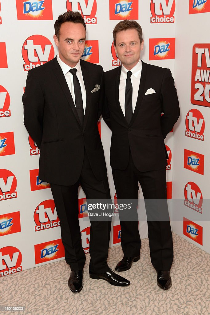 Anthony McPartlin and Declan Donnelly attends the TV Choice Awards 2013 at The Dorchester on September 9, 2013 in London, England.