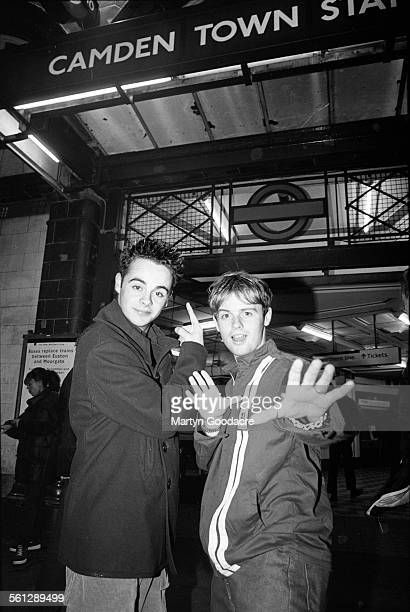 Anthony McPartlin and Declan Donnelly Camden Town tube station London United Kingdom 1994