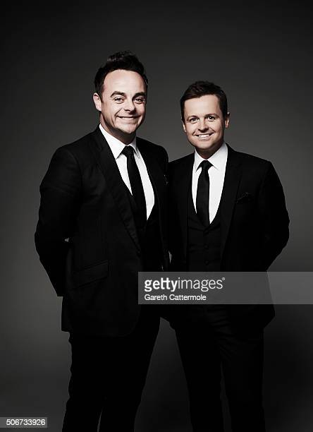 Anthony McPartlin and Declan Donnelly pose in the Portrait Studio during the 21st National Television Awards at The O2 Arena on January 20 2016 in...