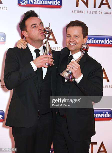 Anthony McPartlin and Declan Donnelly winners of the Presenter award attend the 21st National Television Awards at The O2 Arena on January 20 2016 in...