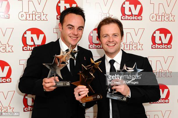 SEPTEMBER 2009 Anthony McPartlin and Declan Donnelly with the Best Entertainment Show award recieved for Ant and Dec's Saturday Night Takeaway at the...