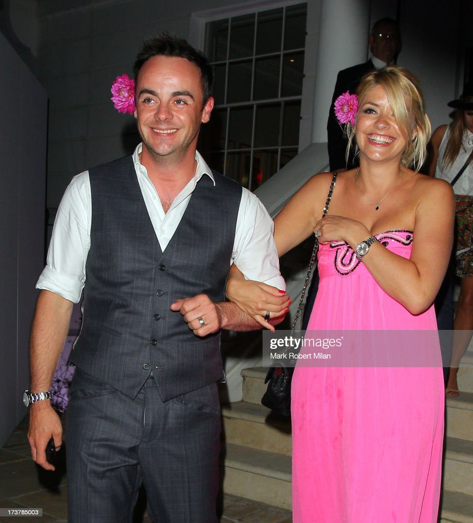 Anthony McPartlin and <a gi-track='captionPersonalityLinkClicked' href=/galleries/search?phrase=Holly+Willoughby&family=editorial&specificpeople=212941 ng-click='$event.stopPropagation()'>Holly Willoughby</a> attending the ITV Summer Reception on July 17, 2013 in London, England.