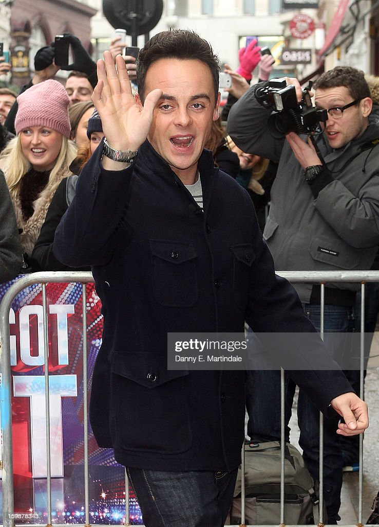 Anthony McPartlin arrives for auditions for Britain's Got Talent at London Palladium on January 22, 2013 in London, England.