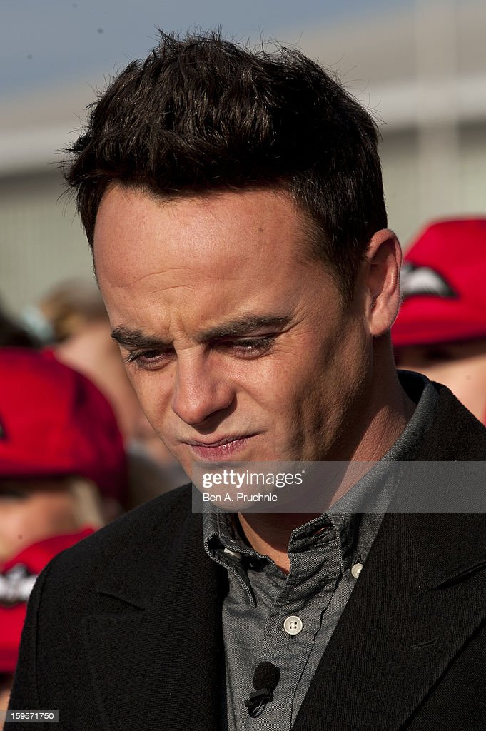 Anthony McPartlin arrives for the 1st day of judges auditions for 'Britain's Got Talent' at Millenium Centre on January 16, 2013 in Cardiff, Wales.