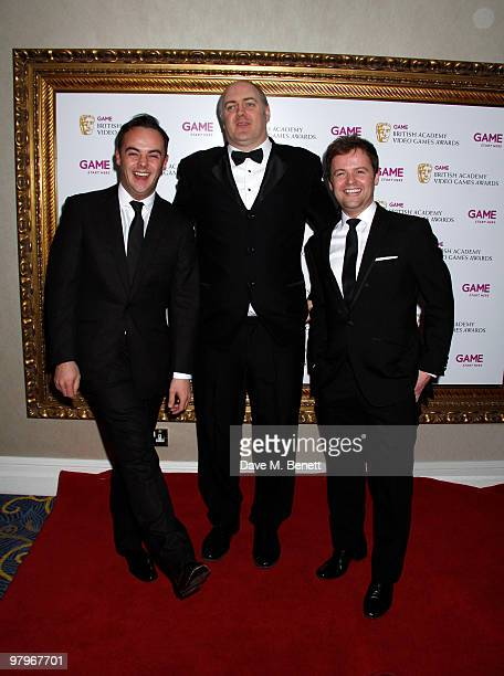 Anthony McPartlin Declan Donnelly Dara O'Brien attend the BAFTA Video Games Awards at the 'Park Lane Hotel' on March 19 2010 in London England