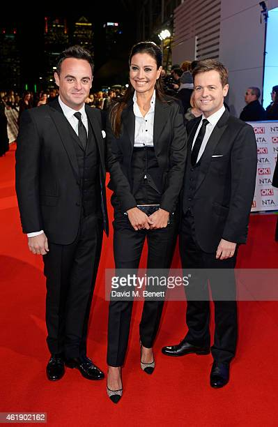 Anthony McPartlin Melanie Sykes and Declan Donnelly attend the National Television Awards at 02 Arena on January 21 2015 in London England