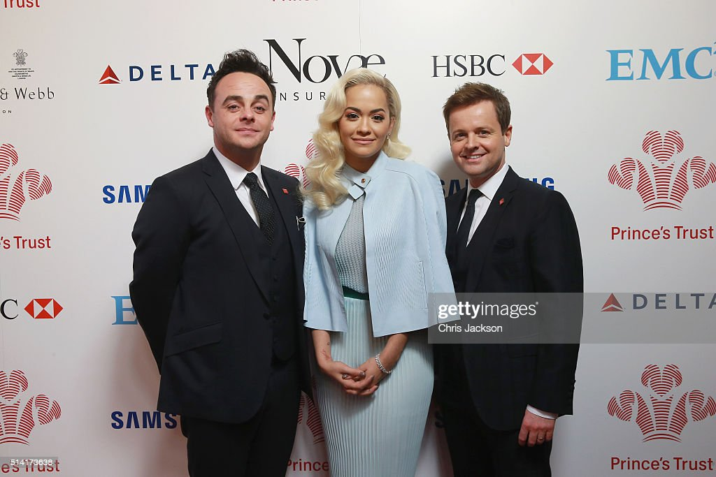 Anthony McPartlin, Rita Ora and Declan Donnelly attend The Prince's Trust Celebrate Success Awards at London Palladium on March 7, 2016 in London, England.