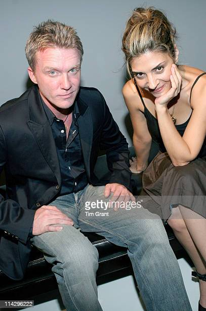 Anthony Michael Hall Callie Thorne during Pier 1 Launches Loft 21 June 27 2006 in New York City New York United States