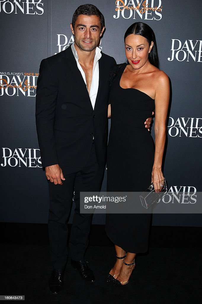 Anthony Minnichello and Terry Biviano arrive for the David Jones A/W 2013 Season Launch at David Jones Castlereagh Street on February 6, 2013 in Sydney, Australia.