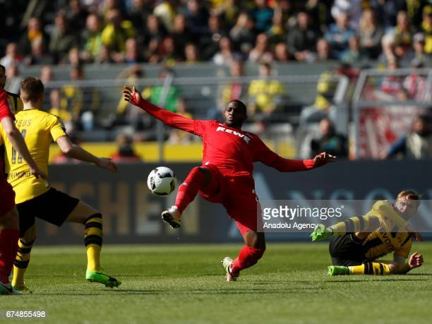 Anthony Modeste of 1FC Cologne in action during the Bundesliga soccer match between Borussia Dortmund and 1FC Cologne during the Bundesliga match...