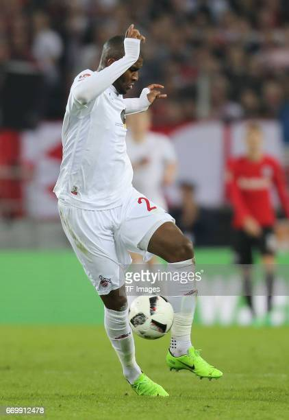 Anthony Modeste of Cologne controls the ball during the German Bundesliga soccer match between 1 FC Cologne and Eintracht Frankfurt in RheinEnergie...