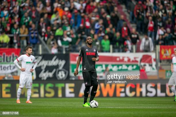 Anthony Modeste of Cologne is seen during the Bundesliga match between FC Augsburg and 1 FC Koeln at WWK Arena on April 15 2017 in Augsburg Germany