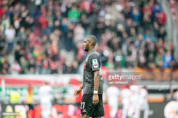 Anthony Modeste of Cologne looks dejected after the Bundesliga match between FC Augsburg and 1 FC Koeln at WWK Arena on April 15 2017 in Augsburg...