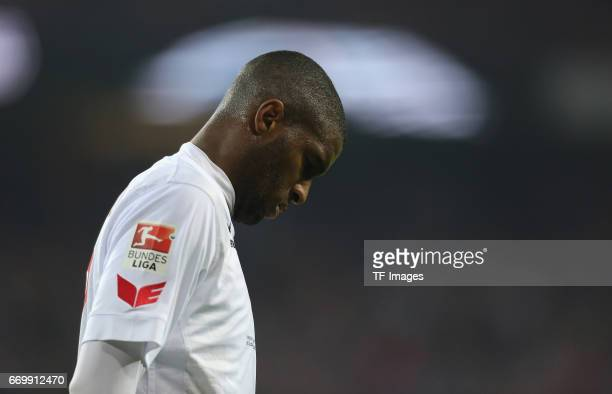 Anthony Modeste of Cologne looks on during the German Bundesliga soccer match between 1 FC Cologne and Eintracht Frankfurt in RheinEnergie Stadium in...