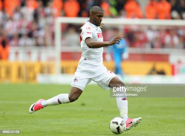 Anthony Modeste of Cologne runs with the ball during the Bundesliga match between 1 FC Koeln and 1 FSV Mainz 05 at RheinEnergieStadion on May 20 2017...