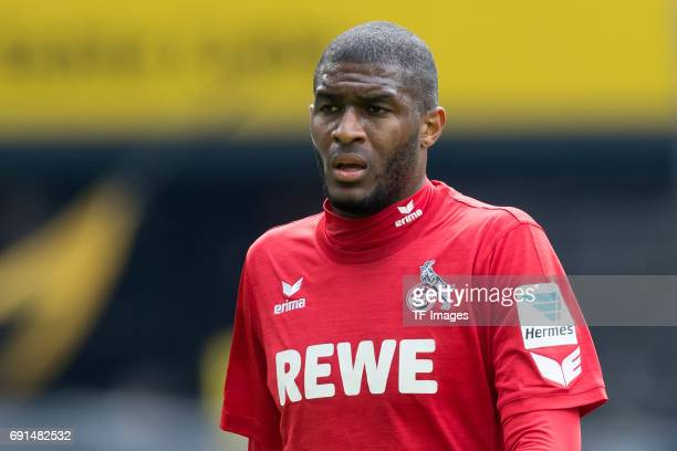 Anthony Modeste of Colonge looks on during the Bundesliga match between Borussia Dortmund and FC Koeln at Signal Iduna Park on April 29 2017 in...
