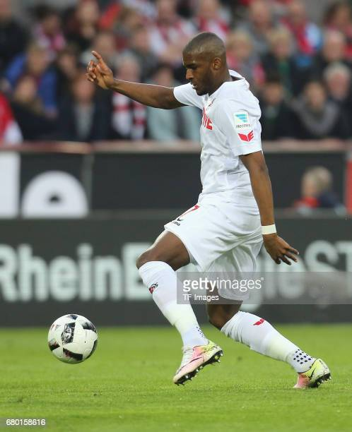 Anthony Modeste of Koeln controls the ball during to the Bundesliga match between 1 FC Koeln and Werder Bremen at RheinEnergieStadion on May 5 2017...
