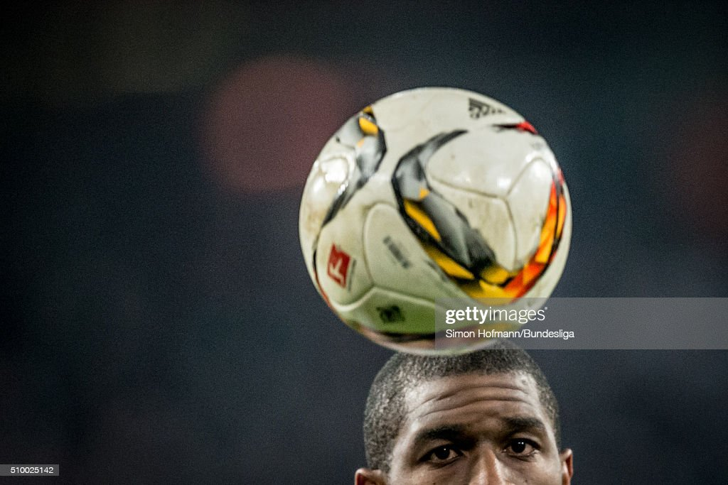 Anthony Modeste of Koeln looks at the ball during the Bundesliga match between 1. FC Koeln and Eintracht Frankfurt at RheinEnergieStadion on February 13, 2016 in Cologne, Germany.