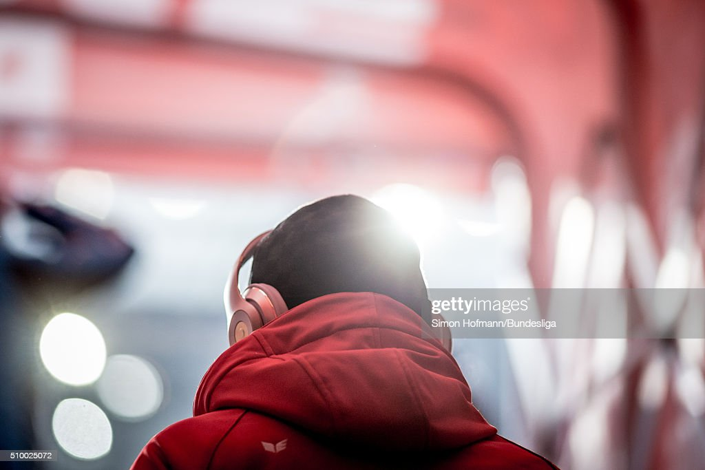 Anthony Modeste of Koeln looks on prior to the Bundesliga match between 1. FC Koeln and Eintracht Frankfurt at RheinEnergieStadion on February 13, 2016 in Cologne, Germany.