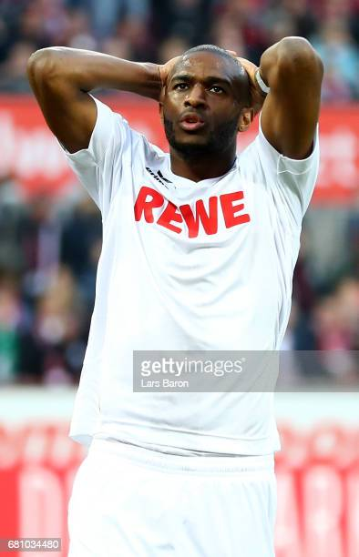 Anthony Modeste of Koeln reacts during the Bundesliga match between 1 FC Koeln and Werder Bremen at RheinEnergieStadion on May 5 2017 in Cologne...