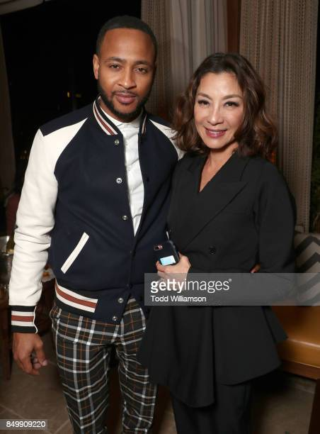 Anthony Montgomery and Michelle Yeoh attend the after party for the premiere of CBS's 'Star Trek Discovery' at the Dream Hotel on September 19 2017...