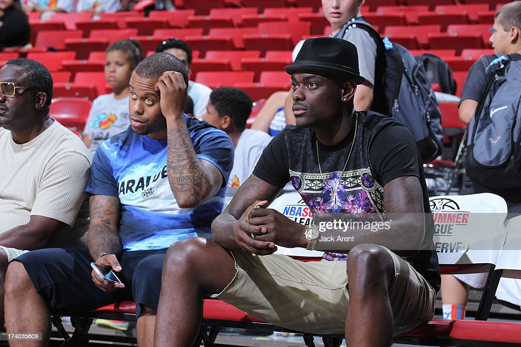 Anthony Morrow #3 looks on where the New Orleans Pelicans versus the Washington Wizards during NBA Summer League on July 19, 2013 at the Thomas and Mack Center Center in Las Vegas, Nevada.