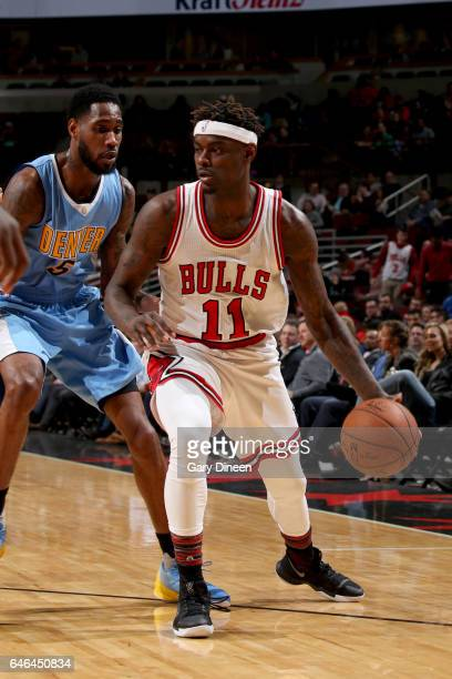 Anthony Morrow of the Chicago Bulls handles the ball against the Denver Nuggets on February 28 2017 at the United Center in Chicago Illinois NOTE TO...