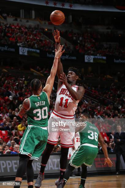 Anthony Morrow of the Chicago Bulls shoots the ball against the Boston Celtics in Game Six of the Eastern Conference Quartefinals of the 2017 NBA...