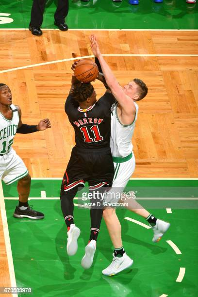Anthony Morrow of the Chicago Bulls shoots the ball during the game against the Boston Celtics in Game Five of the Eastern Conference Quarterfinals...