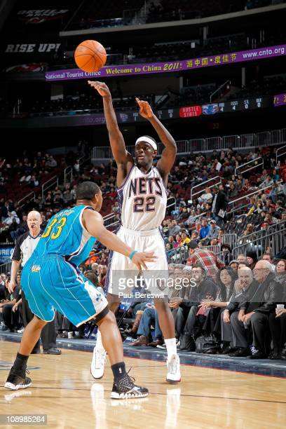 Anthony Morrow of the New Jersey Nets shoots the ball against the New Orleans Hornets of the New Orleans Hornets against of the New Jersey Nets on...