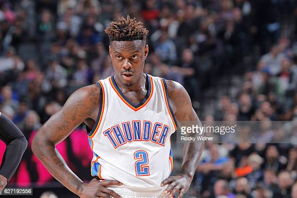 Anthony Morrow of the Oklahoma City Thunder looks on during the game against the Sacramento Kings on November 23 2016 at Golden 1 Center in...