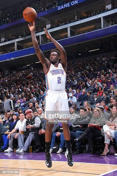 Anthony Morrow of the Oklahoma City Thunder shoots a three pointer against the Sacramento Kings on November 23 2016 at Golden 1 Center in Sacramento...