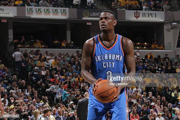 Anthony Morrow of the Oklahoma City Thunder shoots against the Indiana Pacers during the game in Indianapolis Indiana NOTE TO USER User expressly...