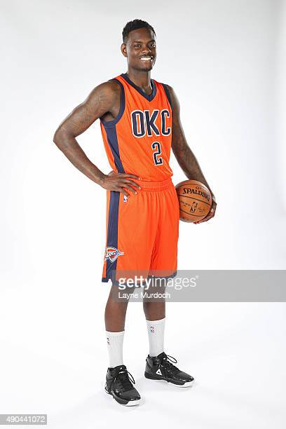 Anthony Morrow of the Oklahoma Thunder poses with the team's new Sunset uniform on September 23 2015 at the Integris Health Thunder Development...