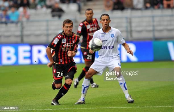 Anthony MOUNIER / Kamel CHAFNI Auxerre / Nice Ligue 1 5eme journee Photo Dave Winter / Icon Sport