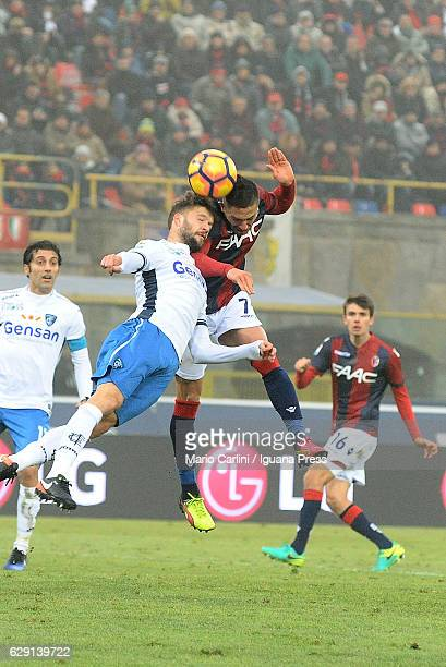 Anthony Mounier of Bologna FC heads the ball towards the goal during the Serie A match between Bologna FC and Empoli FC at Stadio Renato Dall'Ara on...