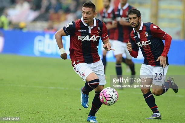 Anthony Mounier of Bologna FC in action during the Serie A match between Bologna FC and US Citta di Palermo at Stadio Renato Dall'Ara on October 18...