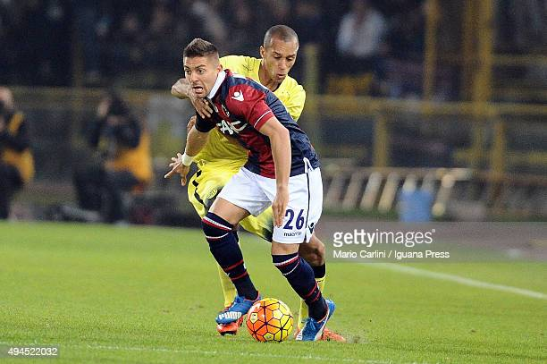 Anthony Mounier of Bologna FC in action during the Serie A match between Bologna FC and FC Internazionale Milano at Stadio Renato Dall'Ara on October...
