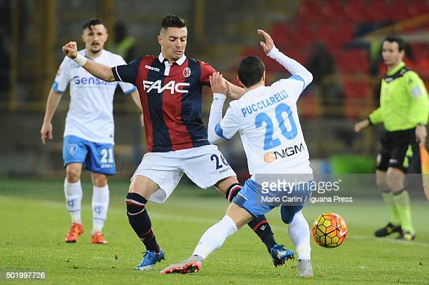 Anthony Mounier of Bologna FC in action during the Serie A match between Bologna FC and Empoli FC at Stadio Renato Dall'Ara on December 19 2015 in...