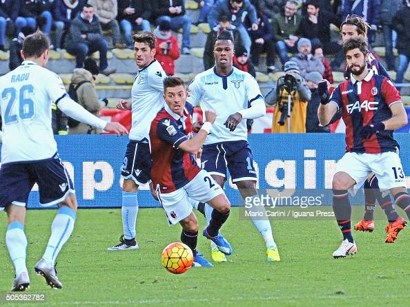 Anthony Mounier of Bologna FC in action during the Serie A match between Bologna FC and SS Lazio at Stadio Renato Dall'Ara on January 17 2016 in...