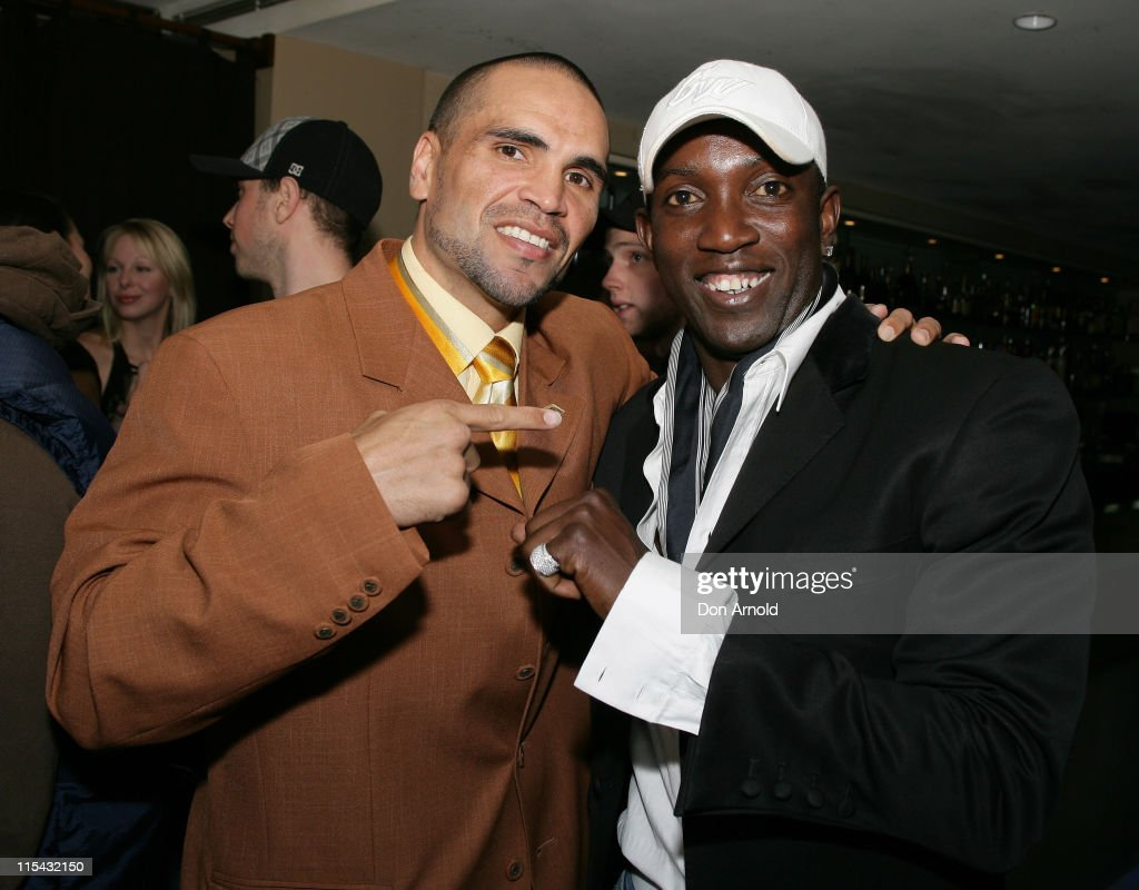 <a gi-track='captionPersonalityLinkClicked' href=/galleries/search?phrase=Anthony+Mundine&family=editorial&specificpeople=213446 ng-click='$event.stopPropagation()'>Anthony Mundine</a> and <a gi-track='captionPersonalityLinkClicked' href=/galleries/search?phrase=Dwight+Yorke&family=editorial&specificpeople=206855 ng-click='$event.stopPropagation()'>Dwight Yorke</a> during 2007 Make a Wish Foundation in Sydney at Shangri La Hotel in Sydney, Australia.