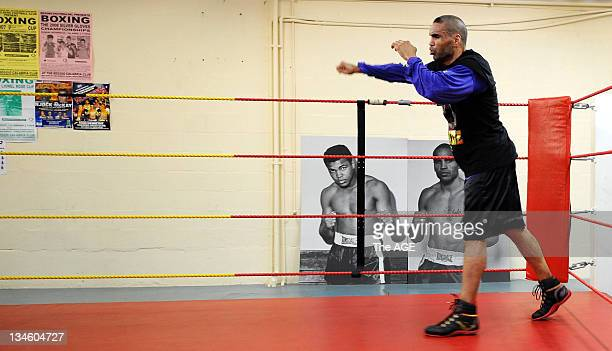 Anthony Mundine training in a Fitzroy Gym today ahead of next weeks fight against Sam Soliman 20 May 2008