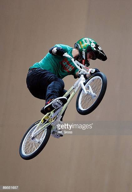 Anthony Napolitan competes in the BMX Freestyle Big Air Final during X Games 15 at Staples Center on July 31 2009 in Los Angeles California