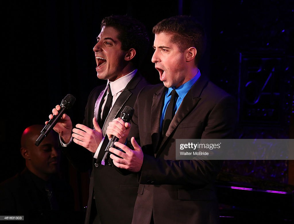 Anthony Nunziata and Will Nunziata Perform 'Broadway, Our Way' at 54 Below on January 9, 2014 in New York City.