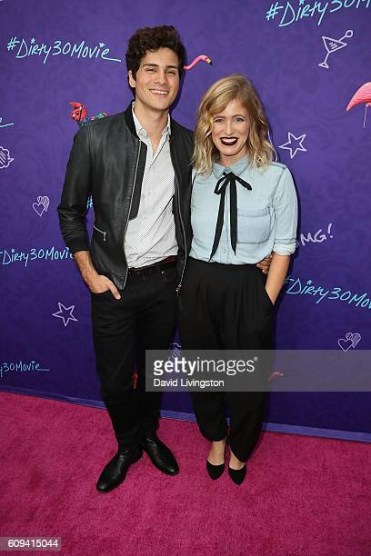 Anthony Padilla and Miel arrive at the Premiere of Lionsgate's 'Dirty 30' at the ArcLight Hollywood on September 20 2016 in Hollywood California
