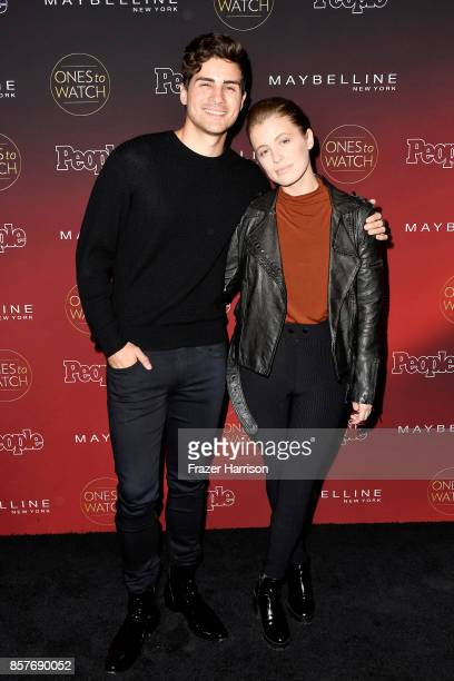 Anthony Padilla and Miel Bredouw attend People's 'Ones To Watch' at NeueHouse Hollywood on October 4 2017 in Los Angeles California