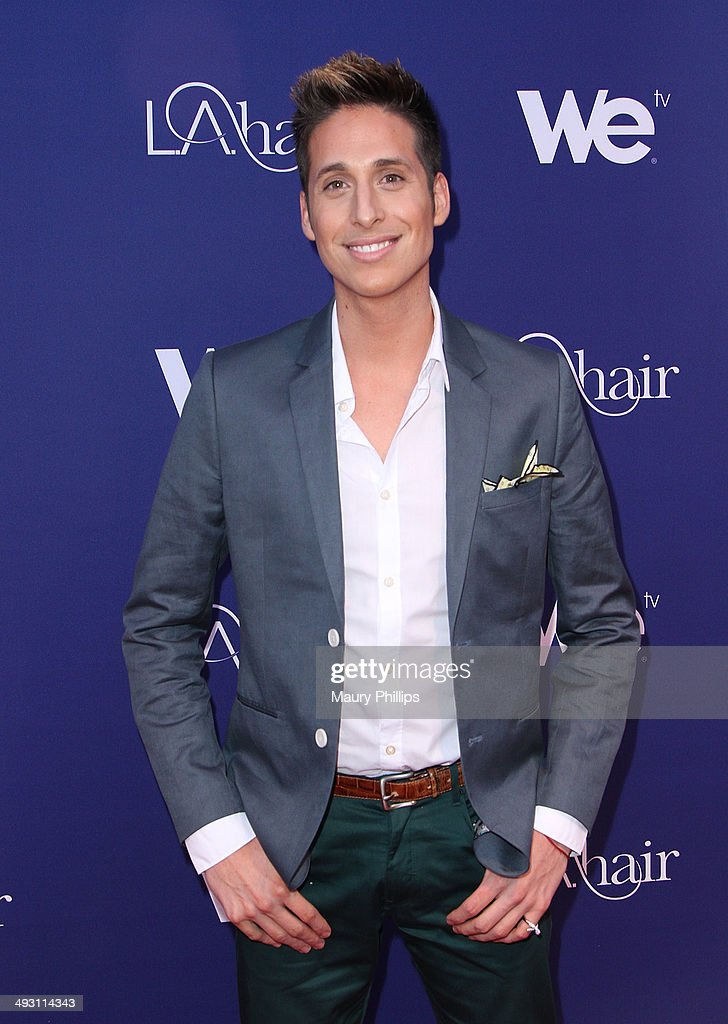 Anthony Pazos arrives at 'L.A. Hair' Season 3 premiere party at Kimble Hair Studio and Extension Bar on May 21, 2014 in Los Angeles, California.